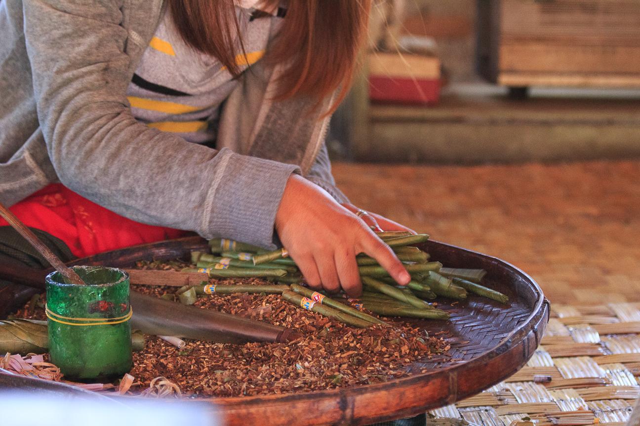 Puros artesanales hechos en Myanmar