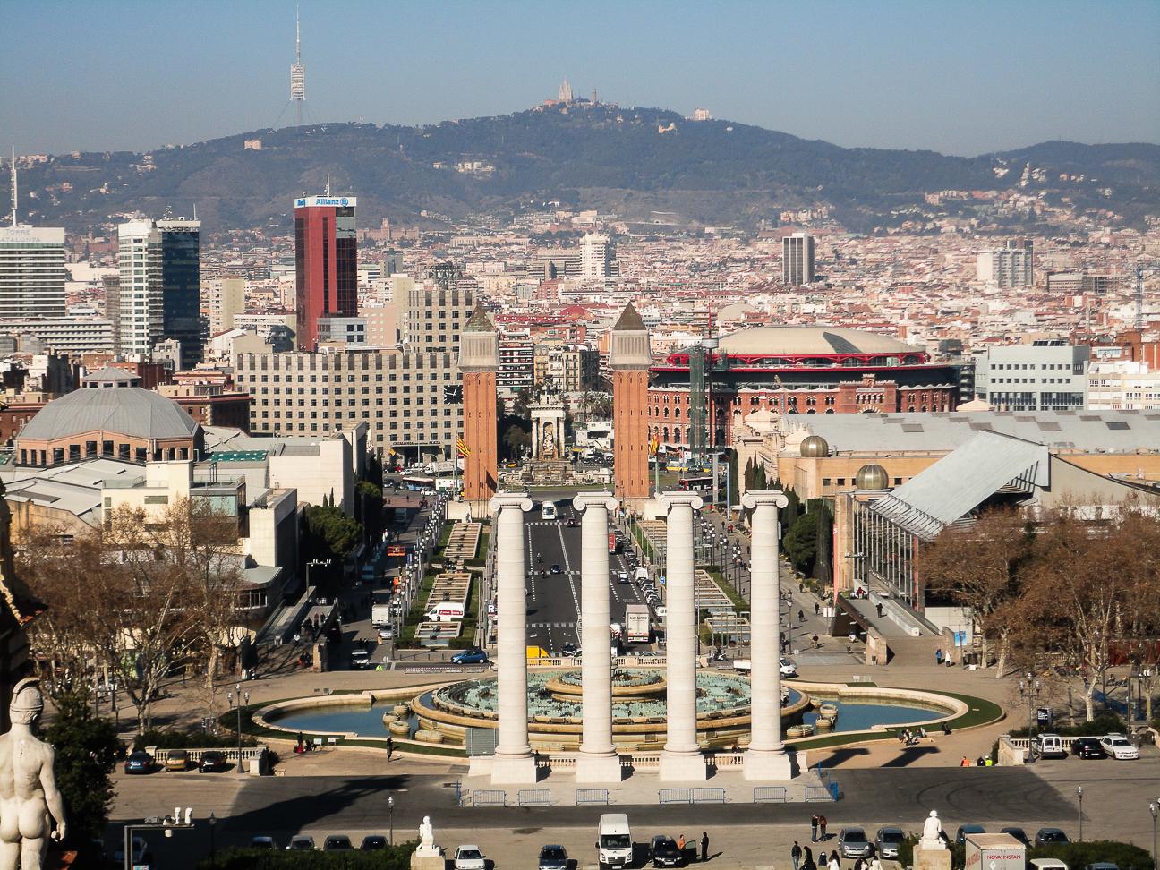 Que hacer en Barcelona - Vistas desde Maria Cristina