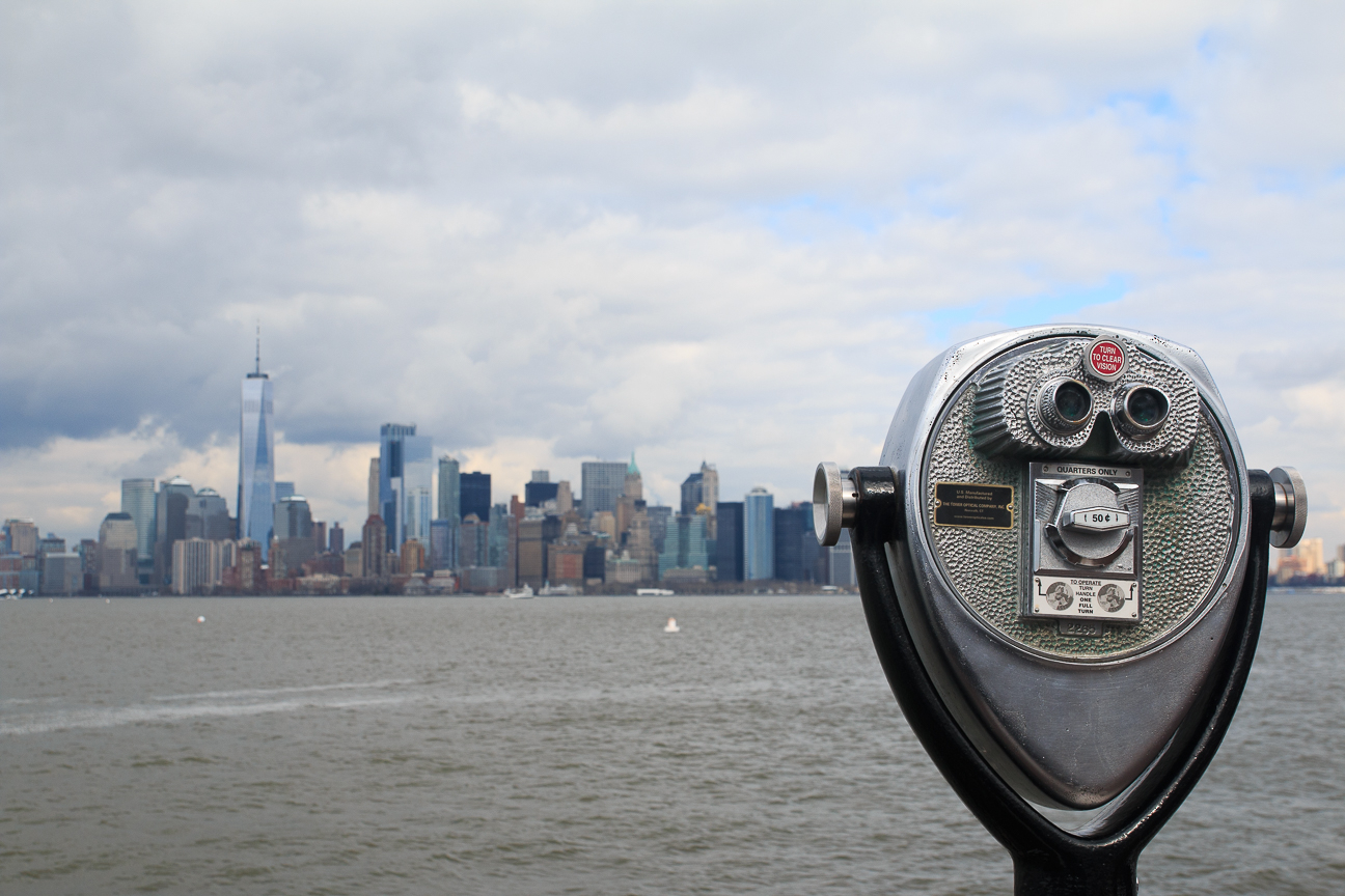 Que hacer en Nueva York - Manhattan desde la estatua de la libertad