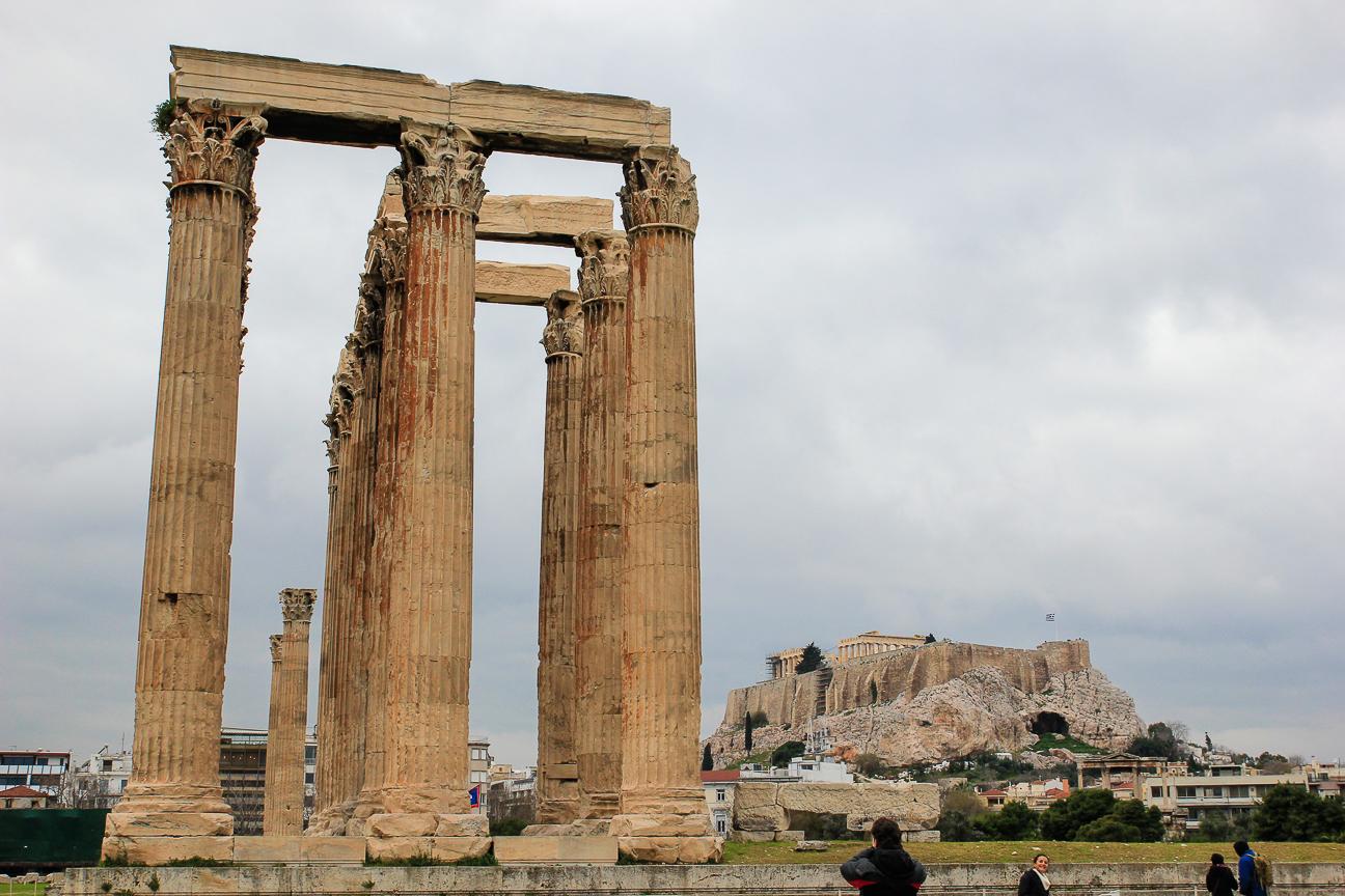 Que ver en Atenas Templo de Zeus Olimpo
