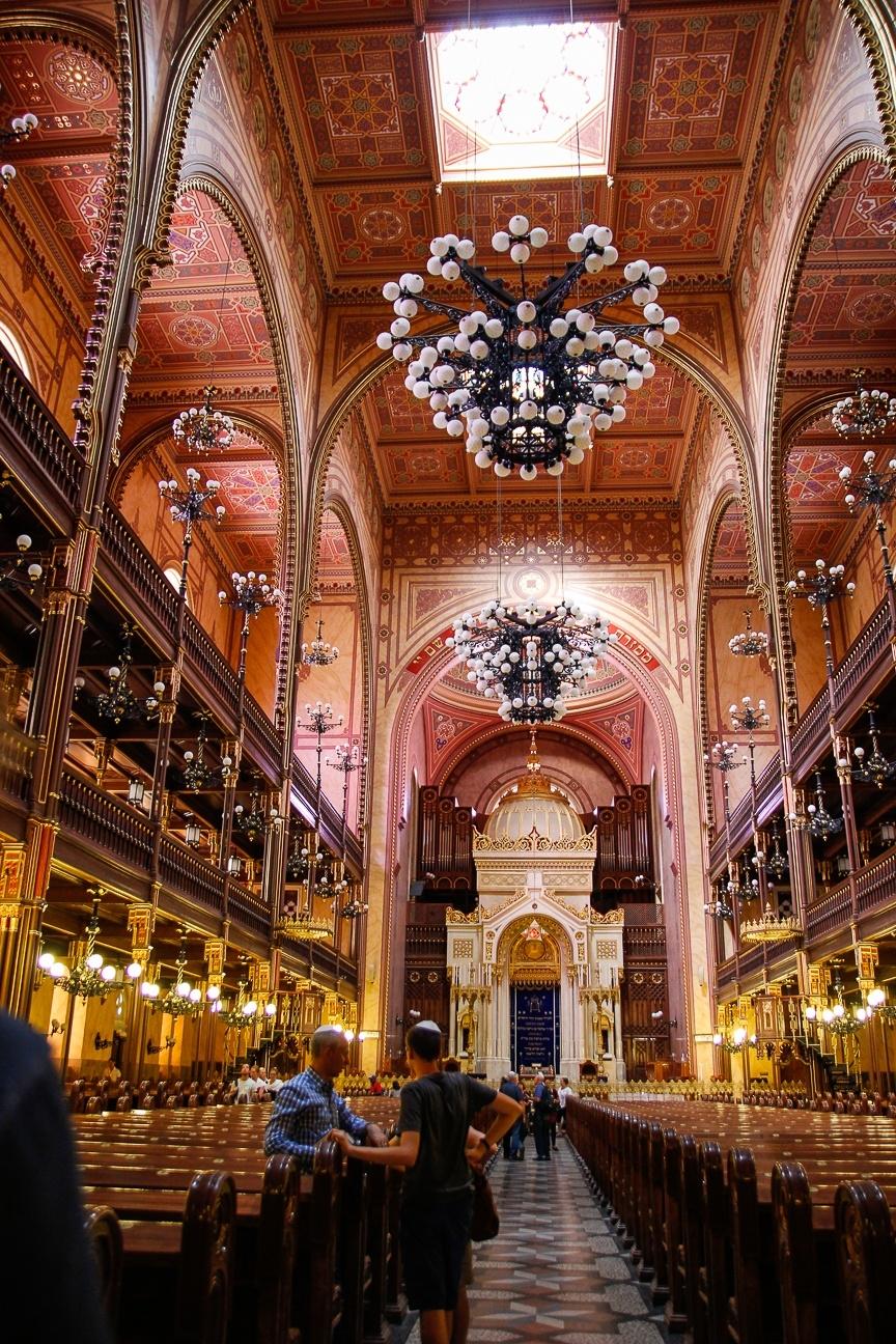 Que ver en Budapest - interior de la gran sinagoga