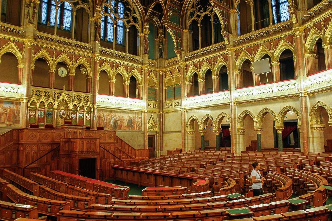 Que ver en Budapest - Interior del parlamento