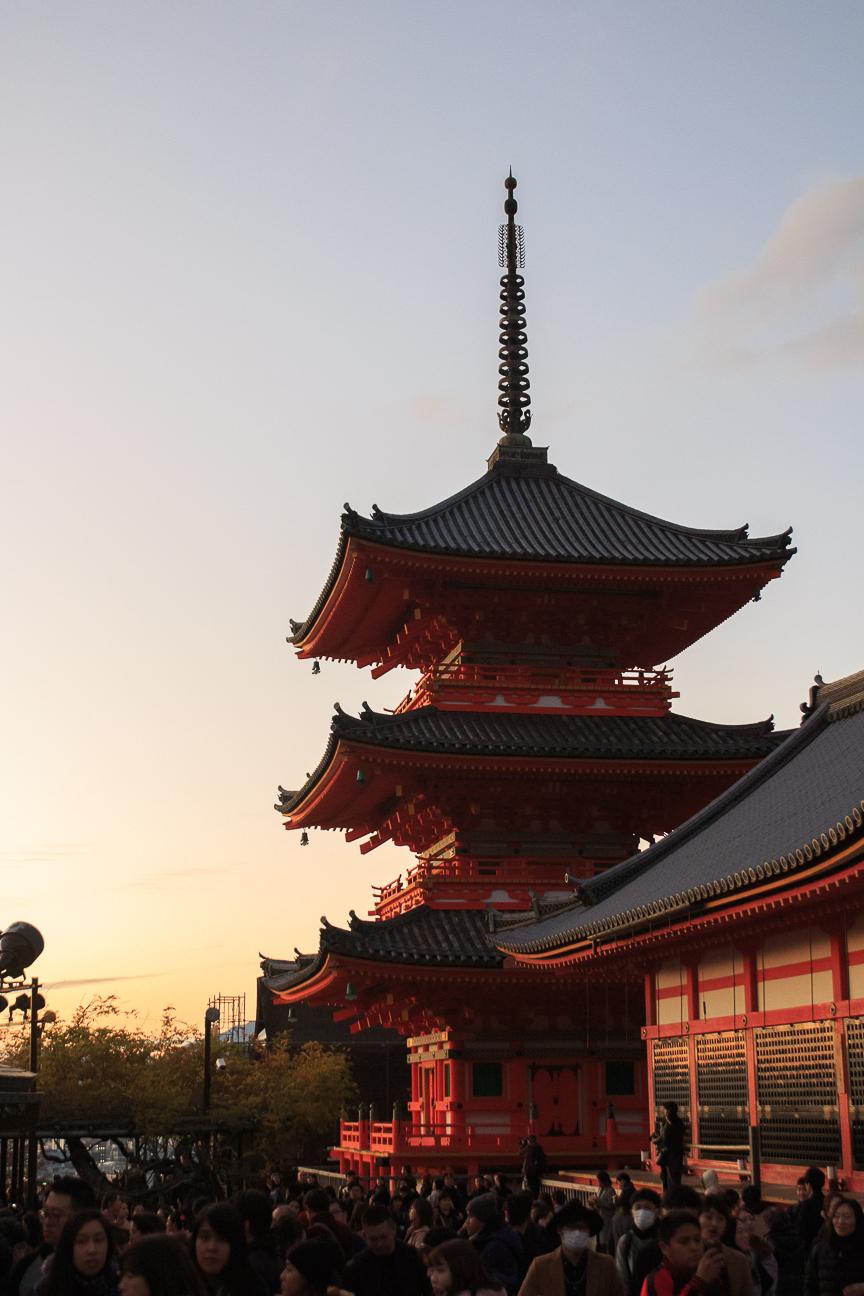 Que ver en Kioto atardecer en Kiyomizu Dera