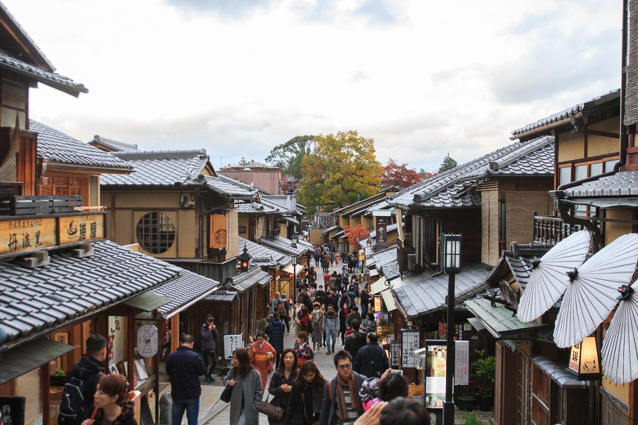 Que ver en Kioto Barrio Hagashiyama calle de Ninenzaka