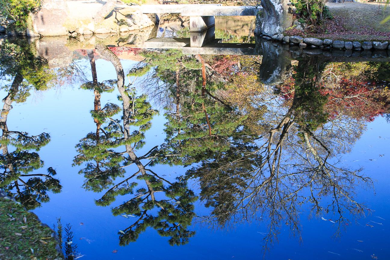 Que ver en Kioto reflejo en el lago