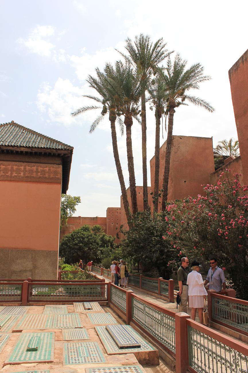 Que ver en Marrakech jardin de las tumbas saadies