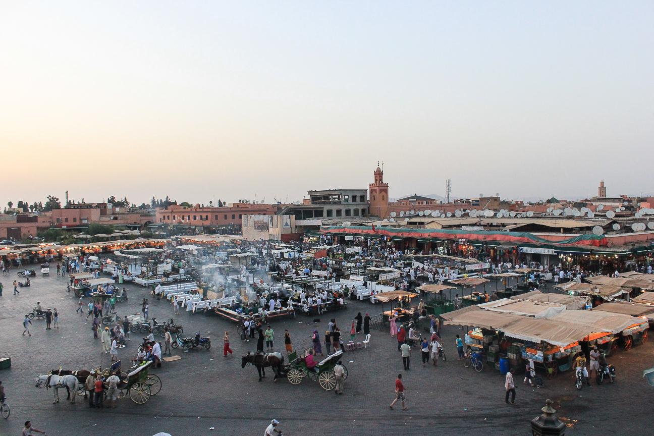 Que ver en Marrakech La Plaza principal
