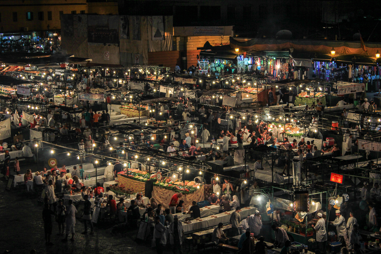 Que ver en Marruecos Plaza Jemaa el Fna