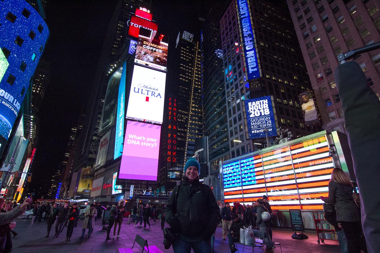 Que ver en Nueva York Times Square de noche