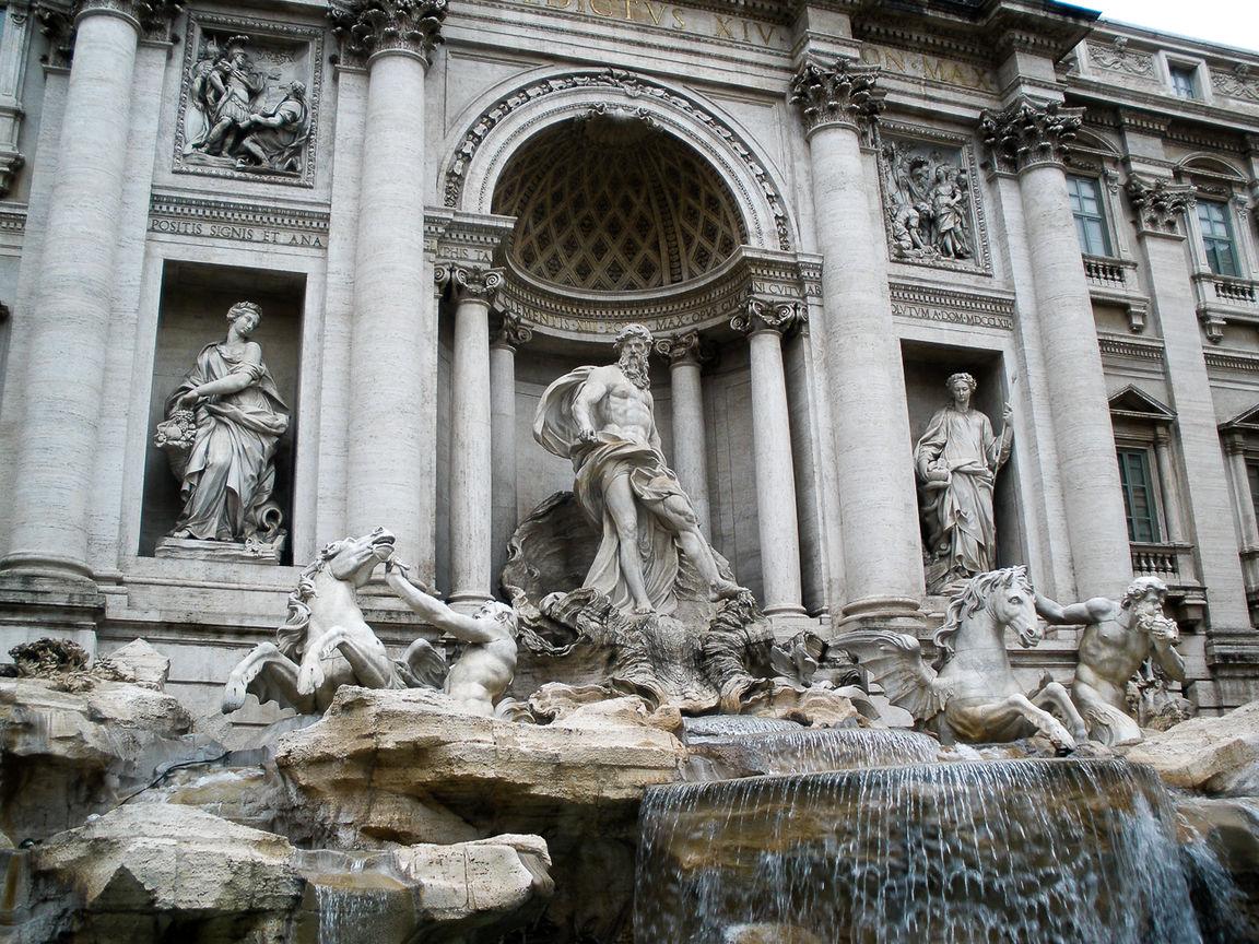 Que ver en Roma la fuente mas famosa de la ciudad Fontana di Trevi
