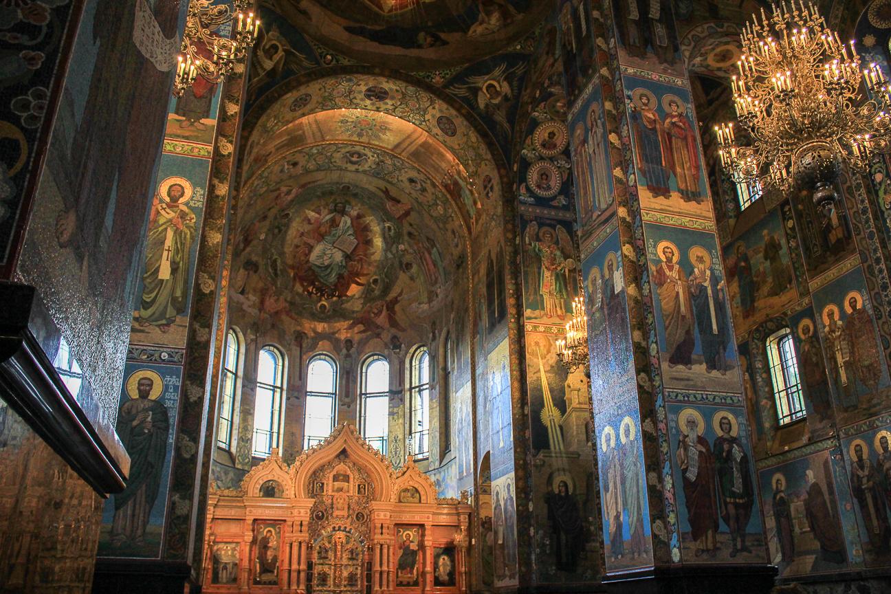 Que ver en San Petersburgo - Interior de la Sangre Derramada