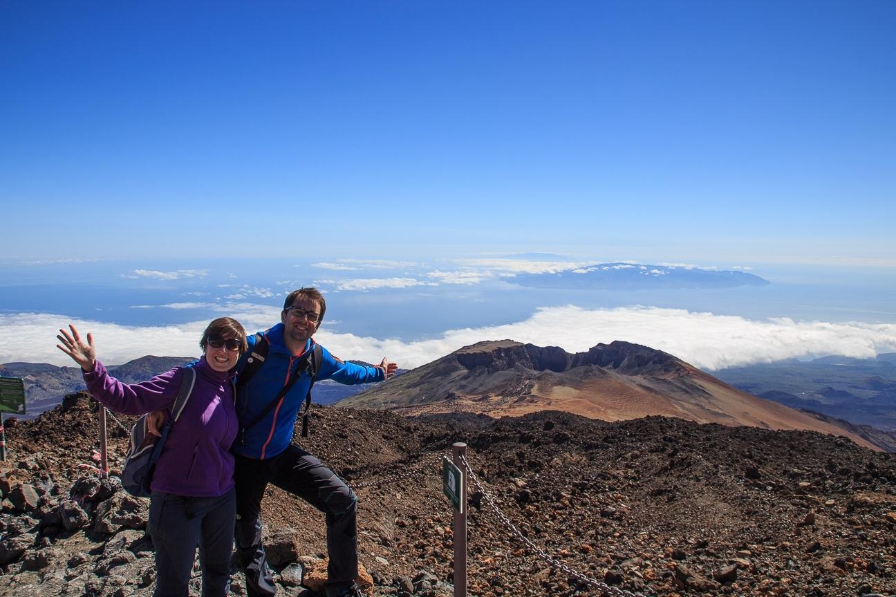 Que ver en Tenerife la Gomera vista desde el Teide