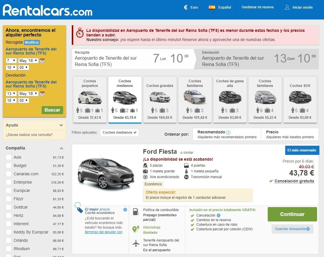 Que ver en Tenerife - Reservar coche de alquiler