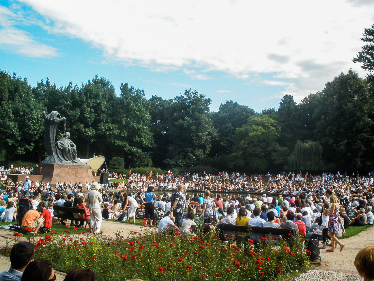 Que ver en Varsovia parque Lazienki concierto