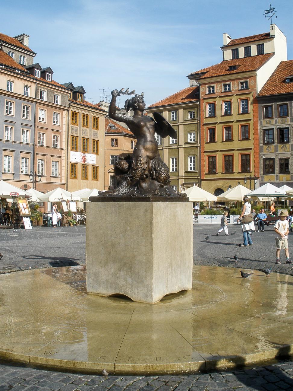 Que ver en Varsovia Sirena protectora de la ciudad