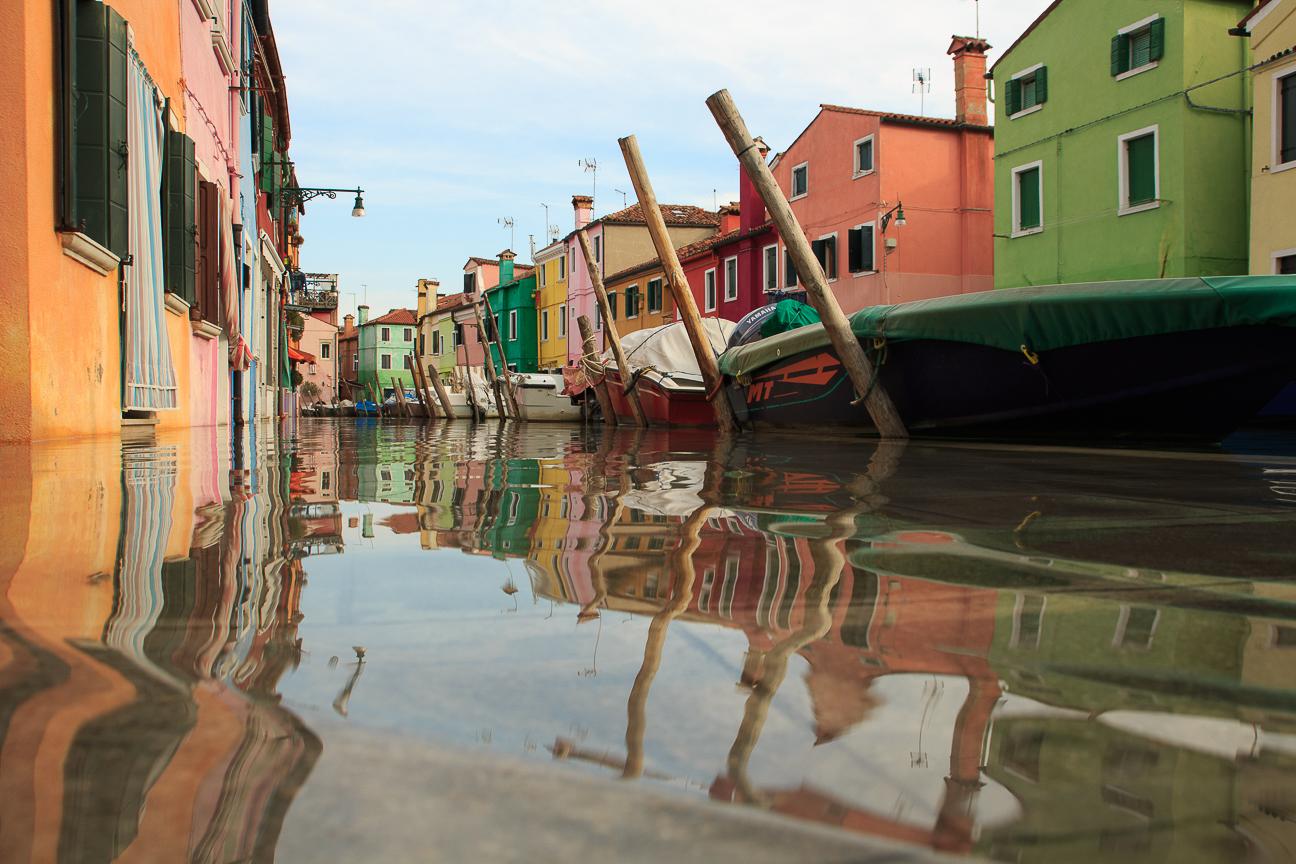 Que ver en Venecia - Burano en Aqua Alta