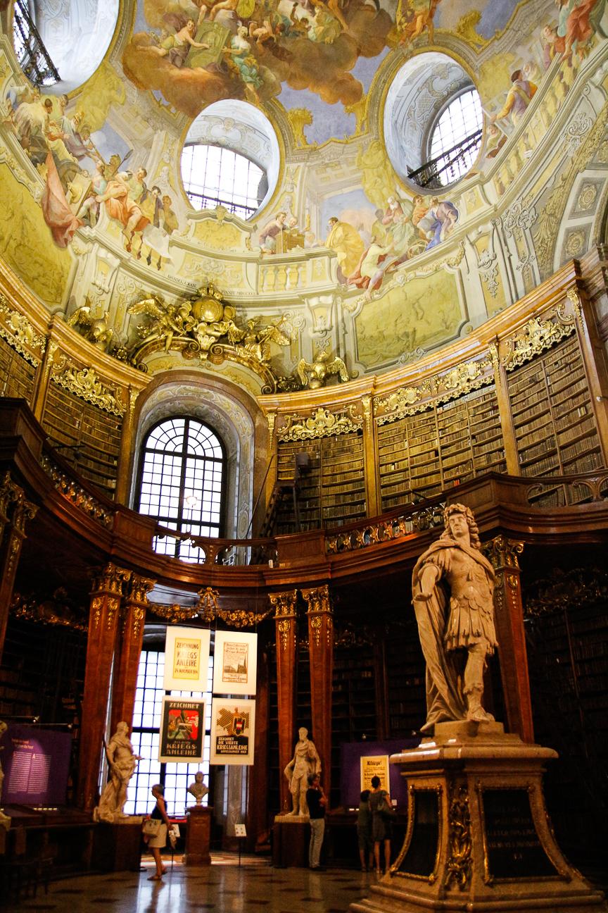 Que ver en Viena - Biblioteca Nacional Austriaca