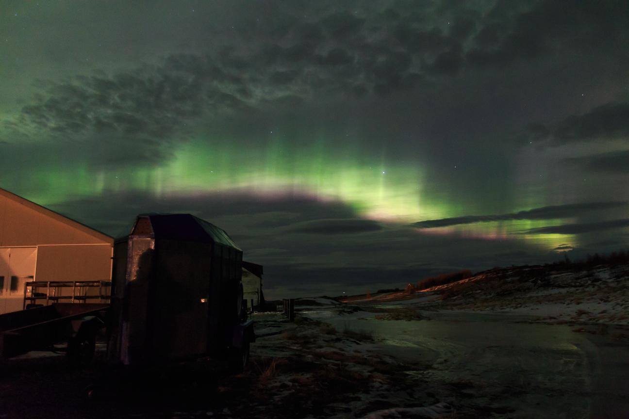 Rayos formados por Auroras