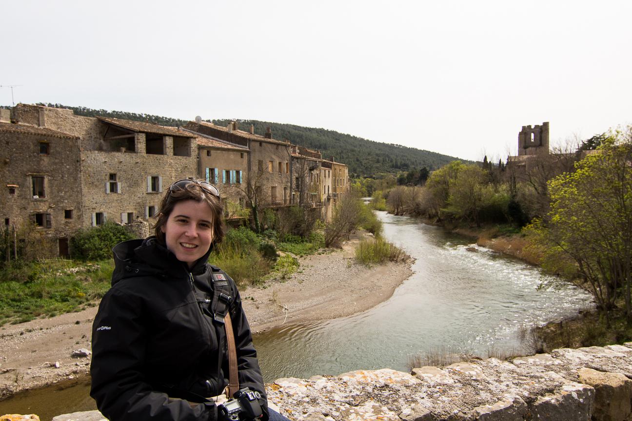 Henar en el rio de Lagrasse