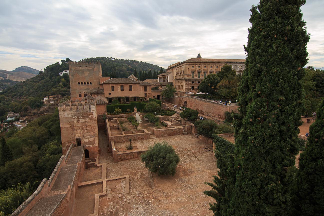 Ruinas de la alcazaba en la Alhambra