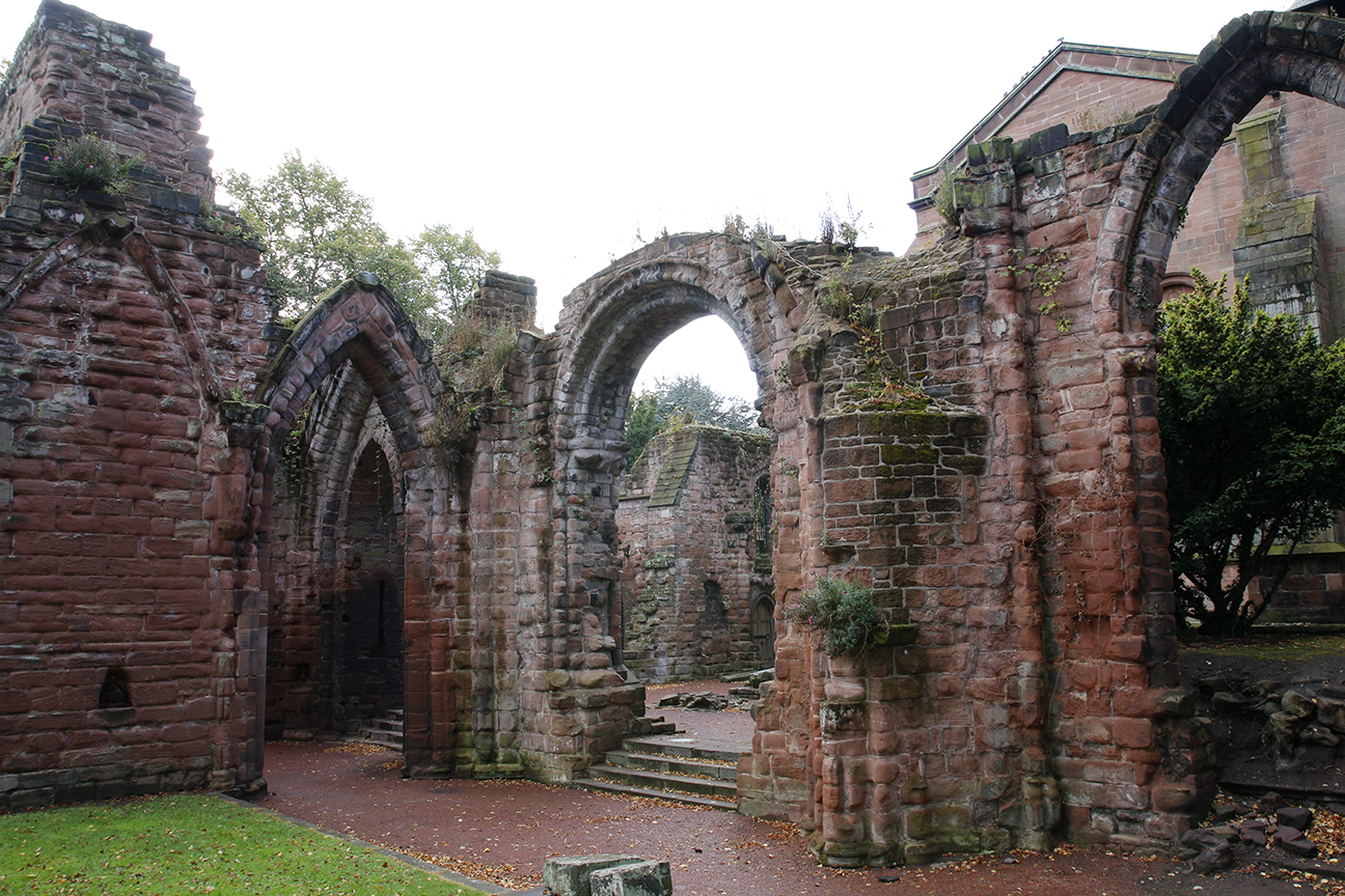 Ruinas en la iglesia de Saint John Baptist