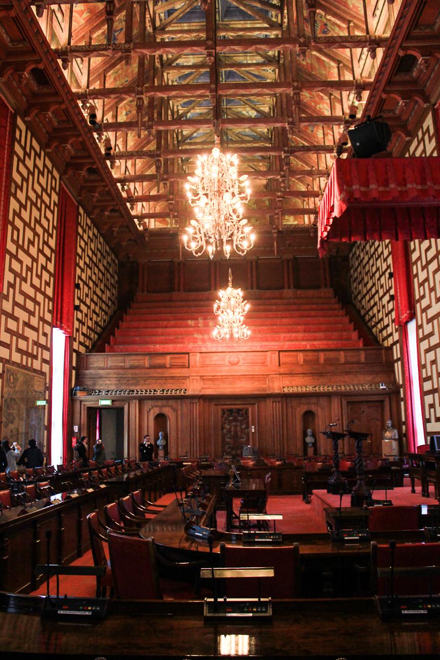Sala parlamentaria ayuntamiento Estocolmo