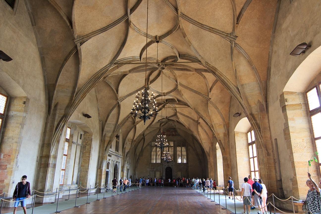 Sala Vladislav en el Palacio Real del Castillo de Praga