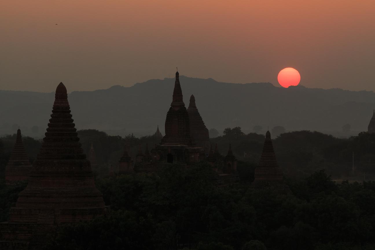 Segundo atardecer sobre Bagan
