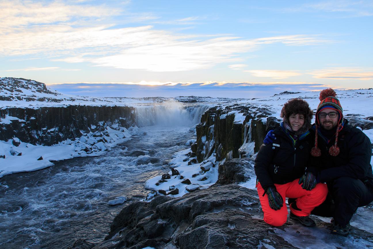 Selfoss en el norte de Islandia