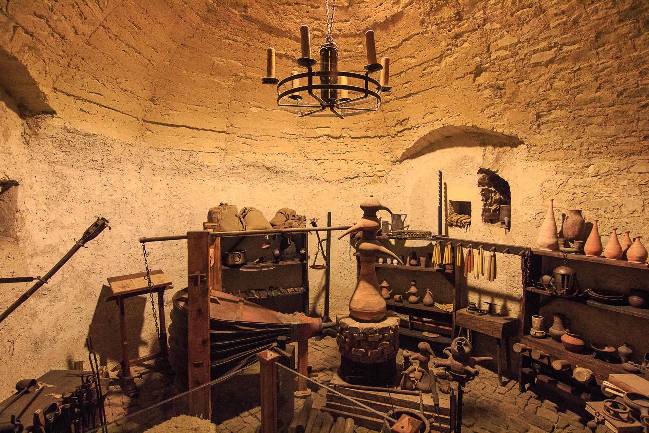 Sotano alquimia en el Castillo de Praga