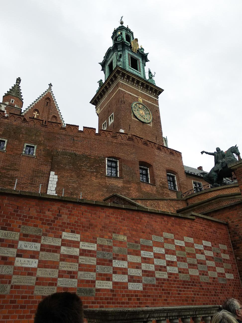 Subiendo al Castillo de Wawel
