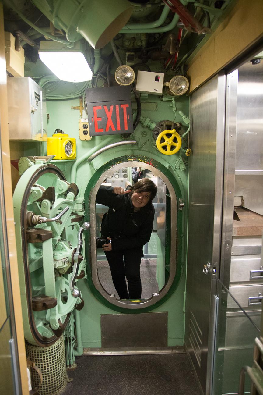 Submarino nuclear en el intrepid museum de Nueva York
