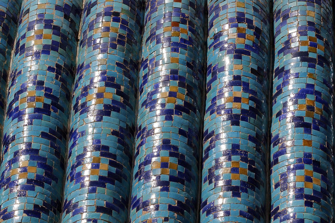 Tejados azul turquesa en Samarcanda