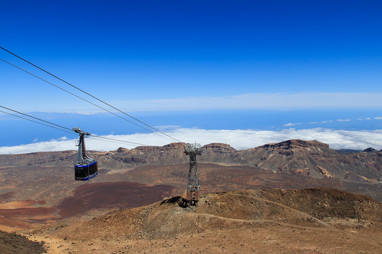 Teleferico del Teide subiendo