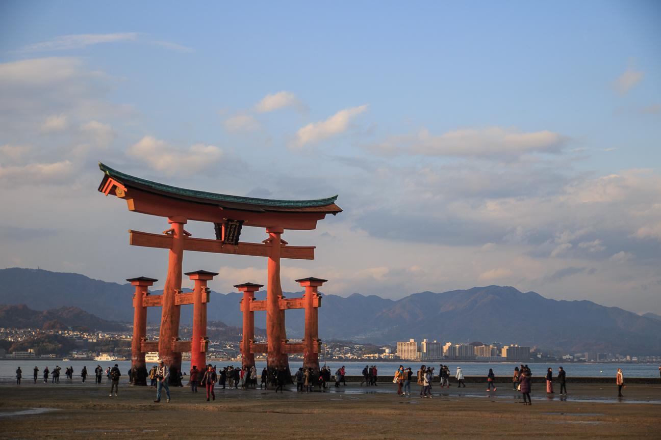 Tori rojo en Miyajima