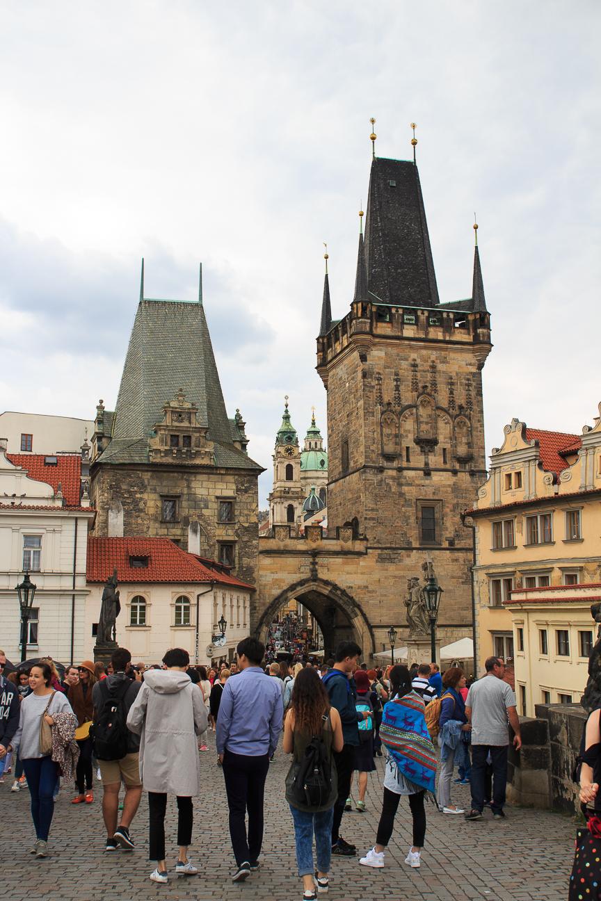 Torre de Mala Strana en el Puente de Carlos de Praga