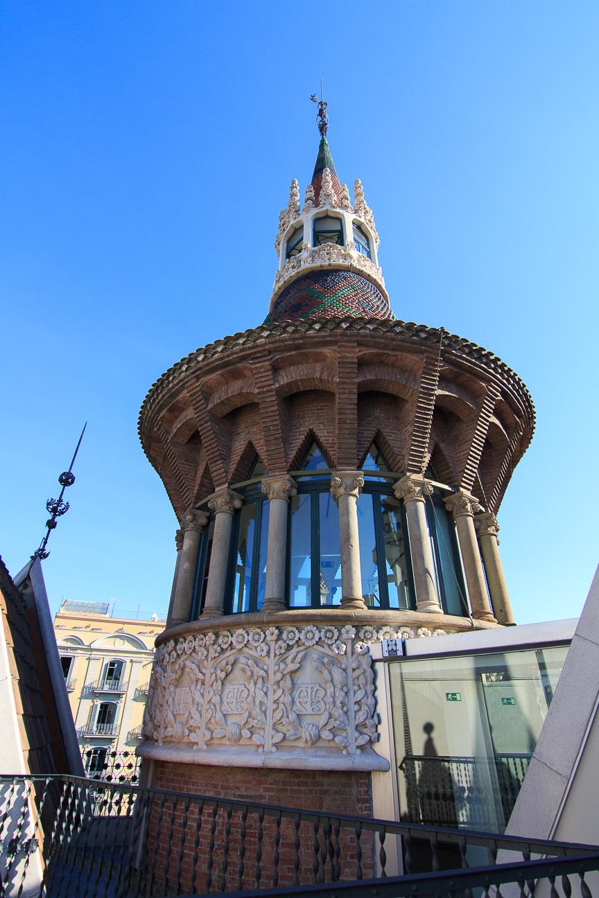Torre o punxa principal de la casa de les punxes