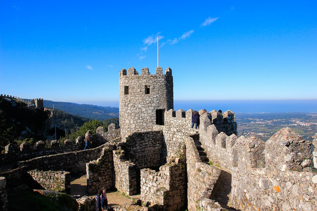 Torreon del castillo de los moros en Sintra