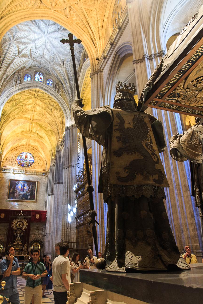 Tumba de Colon en la Catedral de Sevilla