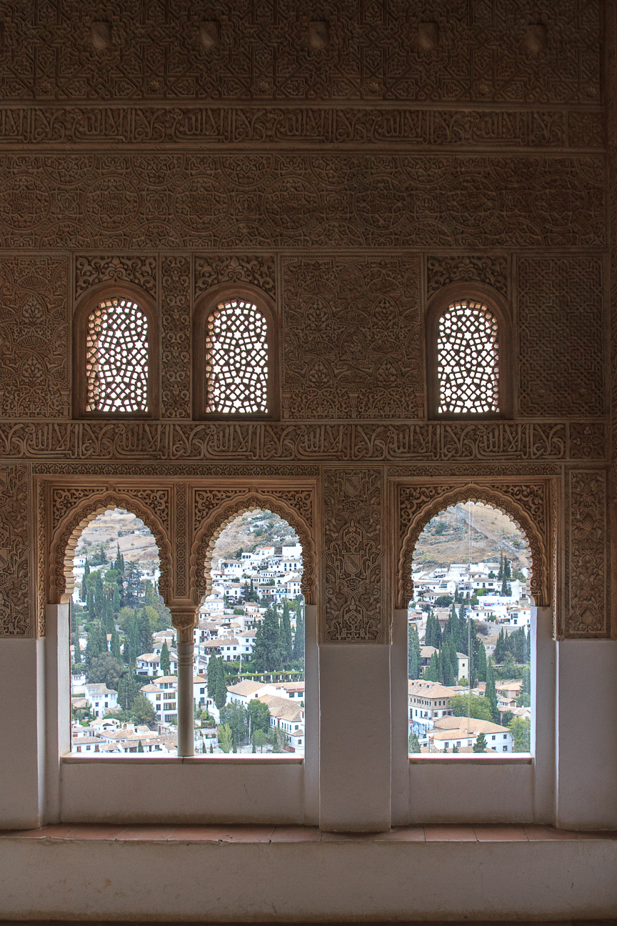 ventanas de los palacios nazaries