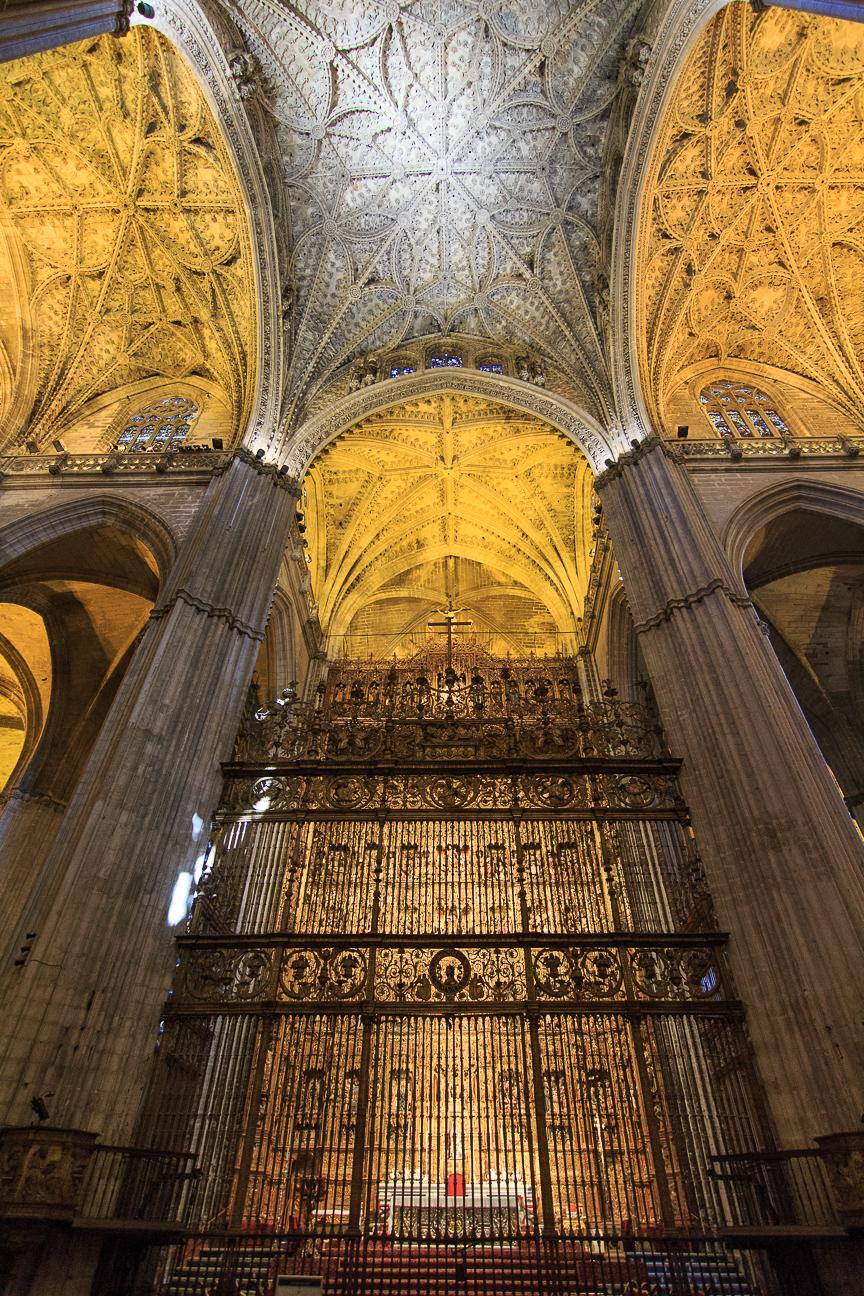 Verja del retablo de la Catedral de Sevilla