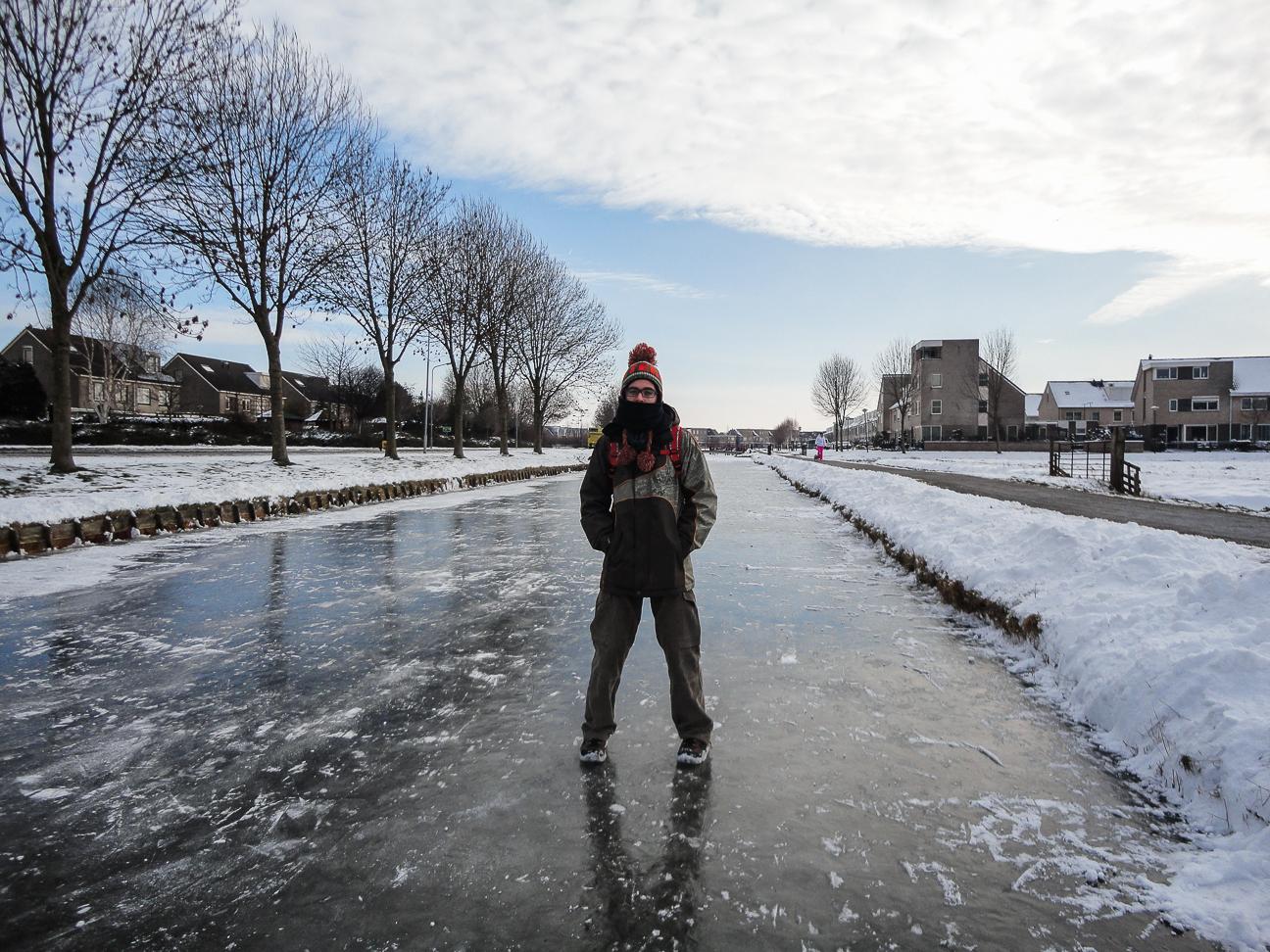 Viajar a Amsterdam - Canales helados en Volendam