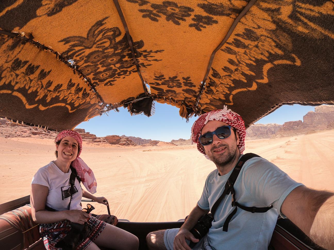 Viajar a Jordania 4x4 desierto Wadi Rum