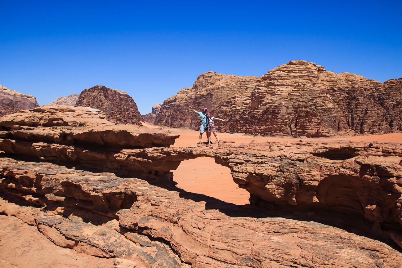 Viajar a Jordania Arco en el Wadi Rum