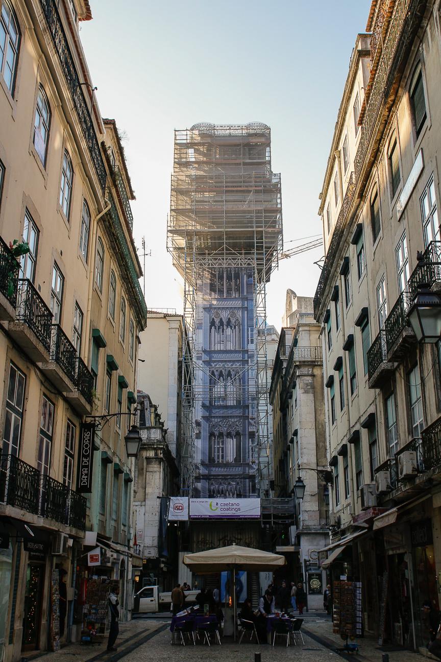 Viajar a Lisboa Elevador de Santa Justa