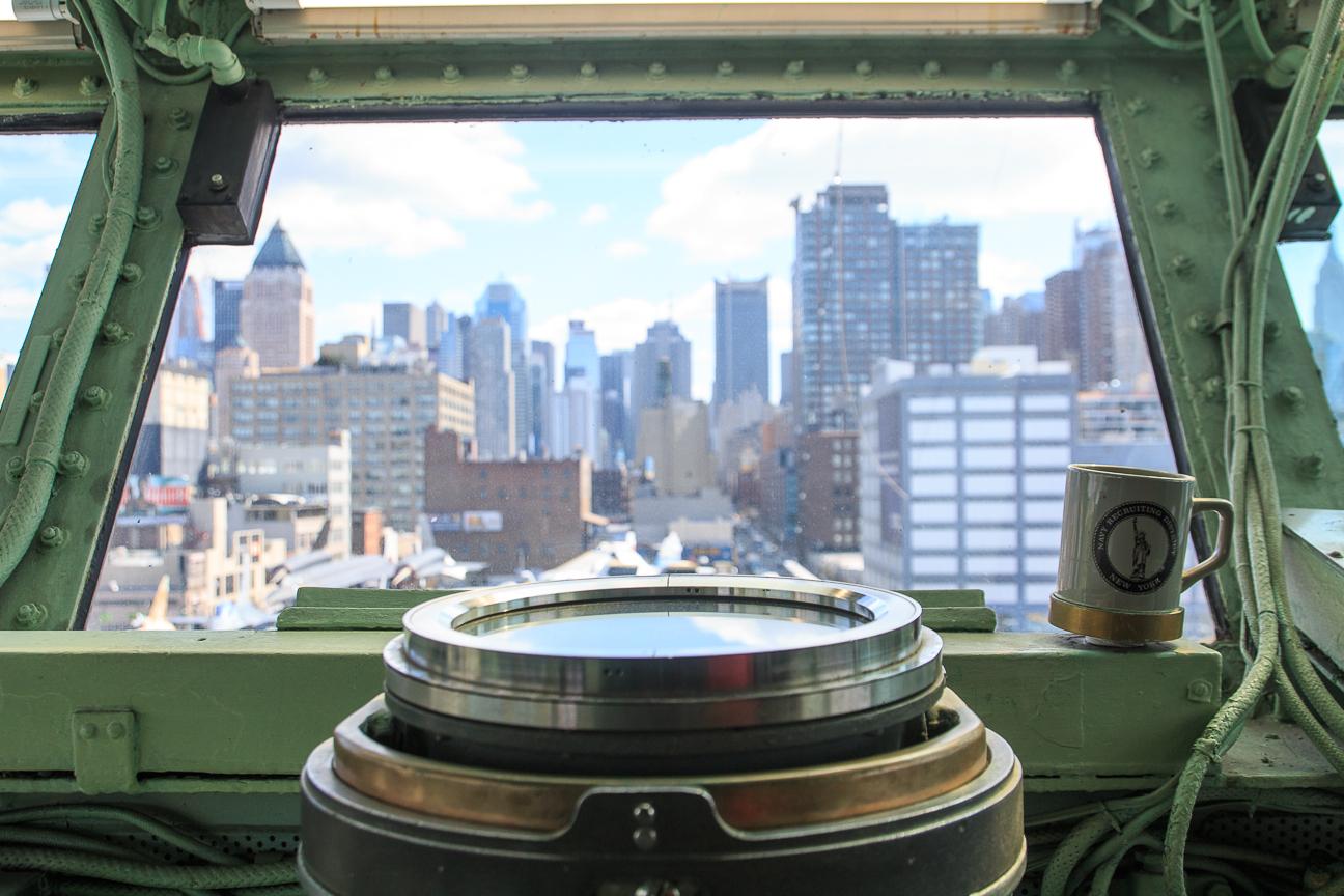 Viajar a Nueva York Vistas desde el Intrepid