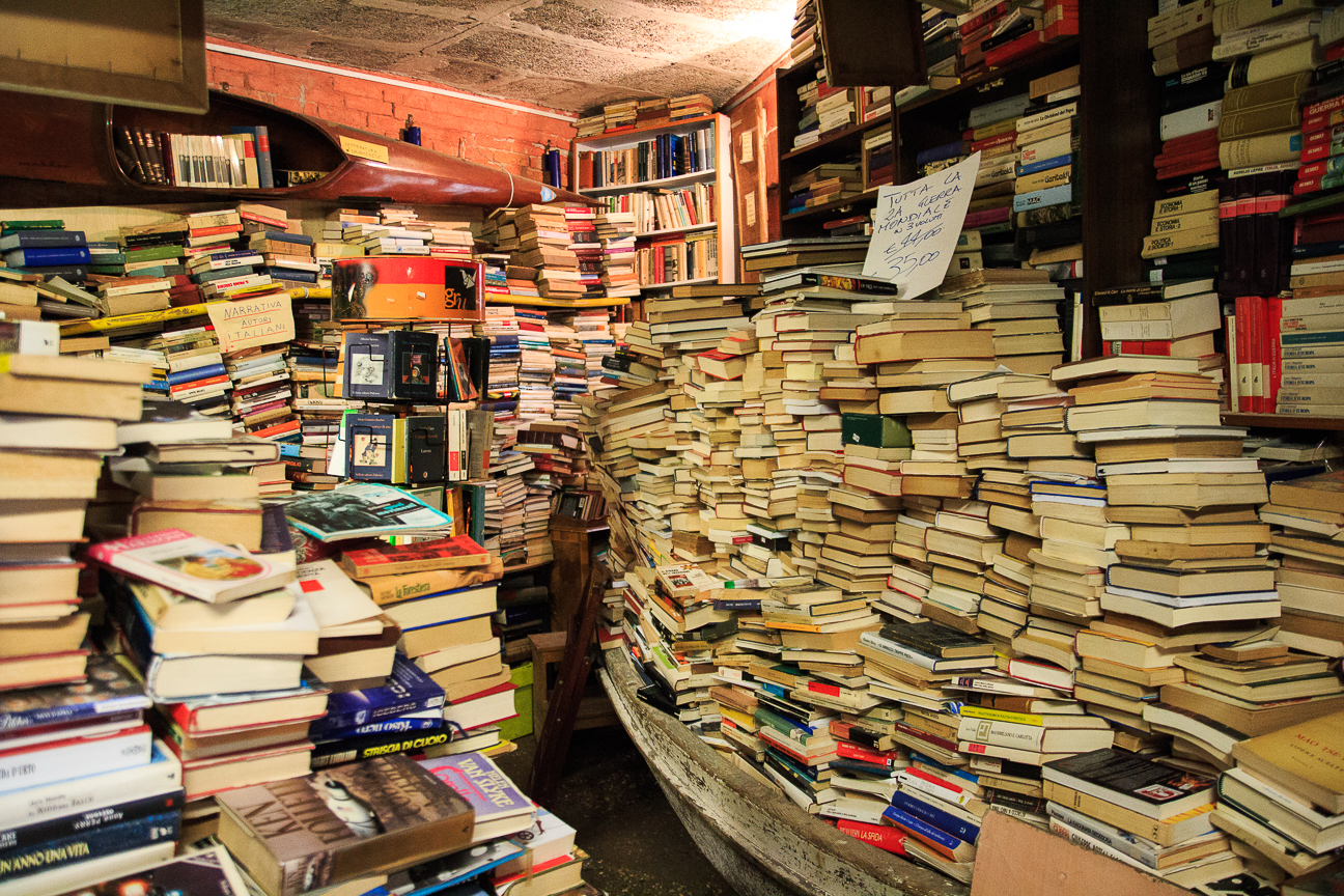 Viajar a Venecia Libros Acqua Alta