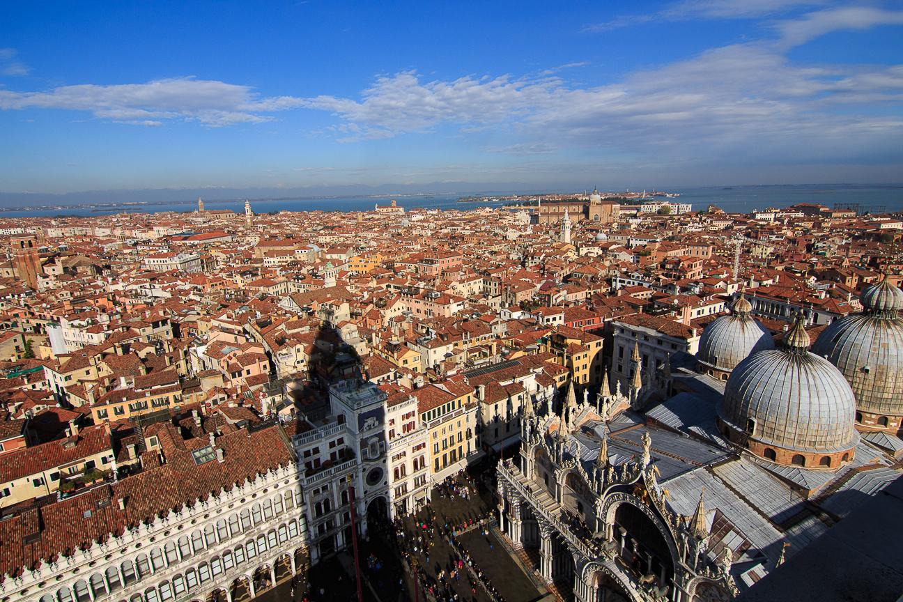 Viajar a Venecia vistas desde el Campanile