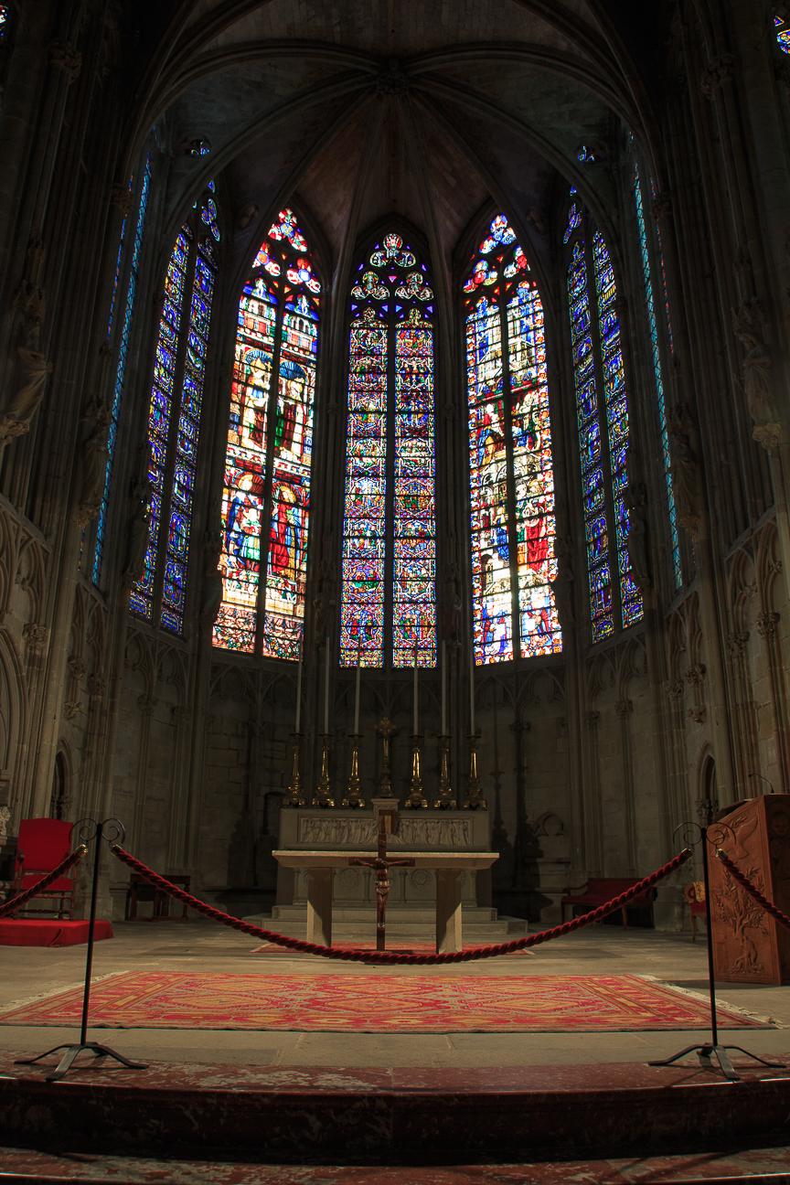 Vidrieras Basilica de Carcassonne