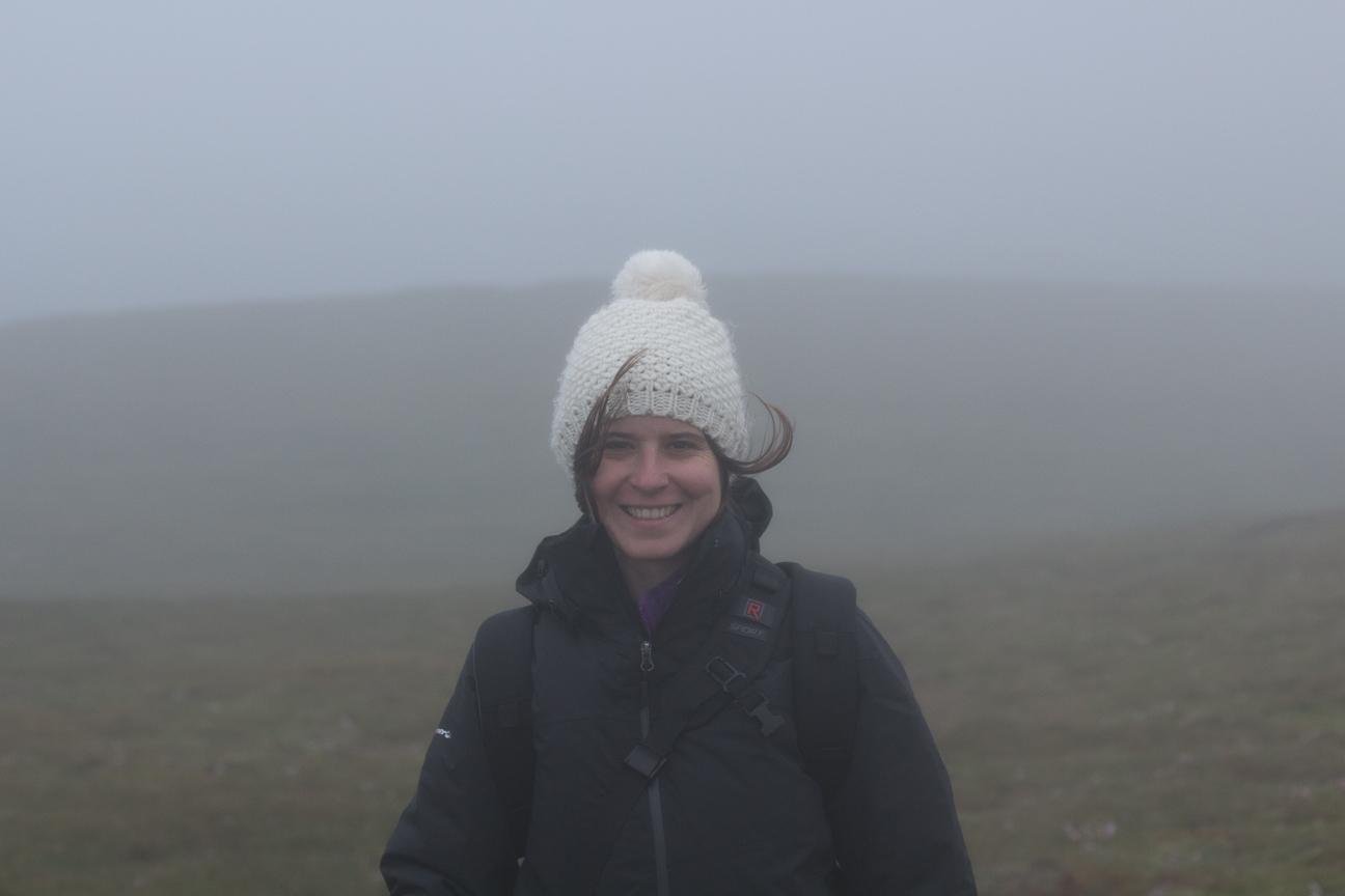 Viento y niebla en Islandia
